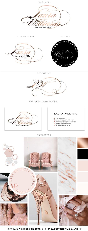 PREMIUM Package Luxe De Marque Rose Logo Noir Or