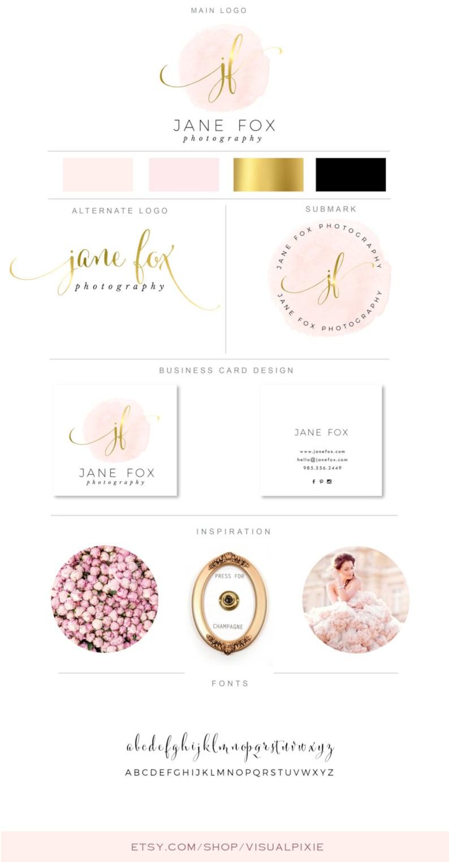 Haut De Gamme Marque Paquet Logos Carte Visite Design