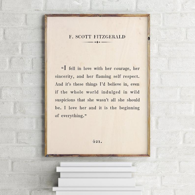 17e5c7e1ece F Scott Fitzgerald Printable QuoteThe Love Letters of F.