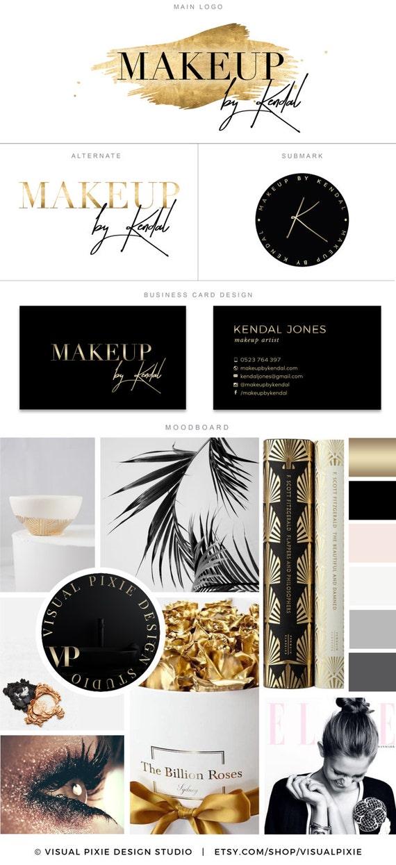 Haut De Gamme Marque Paquet Carte Visite Design Feuille