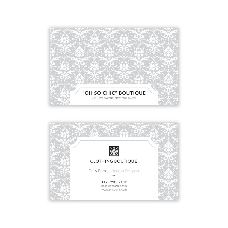 Diseño de tarjeta de visita de lujo elegante Floral Taupe | Etsy