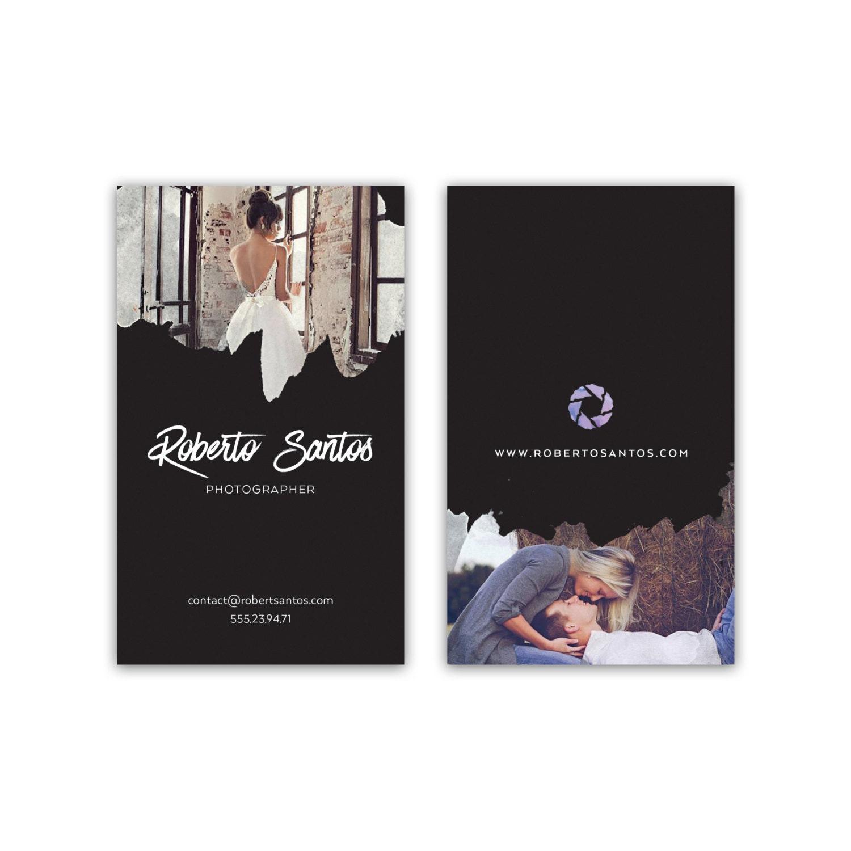 Diseño de tarjeta de visita de fotógrafo con fotos foto | Etsy