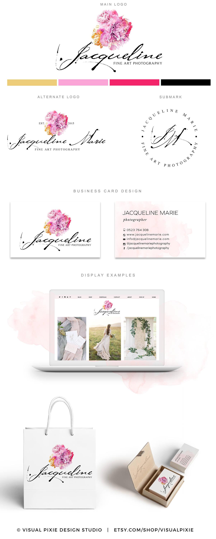Design Lencre Visite De Paquet Maquilleuse Gamme Logo Cheveux Aquarelle Calligraphie Haut Manuscrite Carte