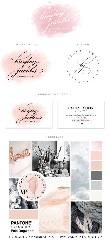 Paquete marca PREMIUM tarjeta de visita diseño fotografía | Etsy