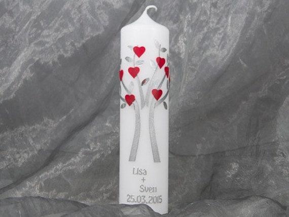 Hochzeitskerze Traukerze Kerze zur Hochzeit 2282