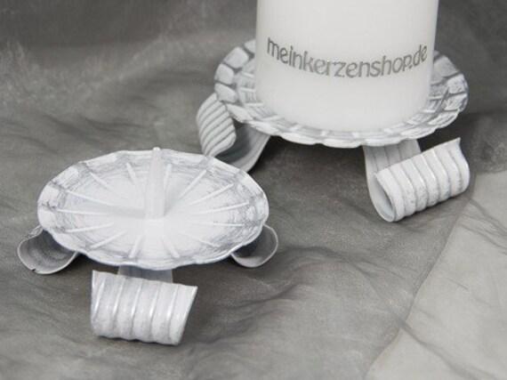 Kerzenteller Kerzenständer Kerzenhalter Hochzeitskerze Taufkerze silber 16506