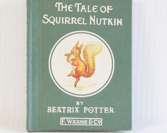 Vintage The Tale of Squirrel Nutkin by Beatrix Potter Hardcover Book