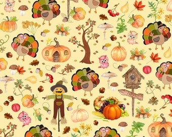 Euro Oeko-Tex Thanksgiving Knit Fabric 1/2 yard