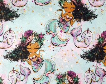 Euro Oeko-Tex Mermaid Collection 09 Knit Fabric 1/2 yard