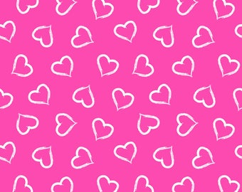 Euro Oeko-Tex Valentine Hearts Knit Fabric 1 yard