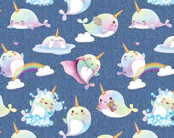 Euro Oeko-Tex Narwhal Denim Knit Fabric 1 yard