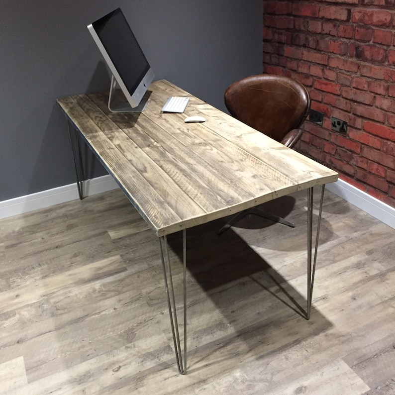 industrial reclaimed wood office desk etsy rh etsy com reclaimed office furniture west midlands reclaimed office furniture stockport