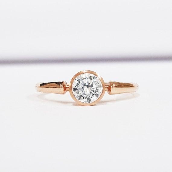 1//4 Ct Solitaire Lab cultivées Diamant Pendentif disponible en 14K et platine