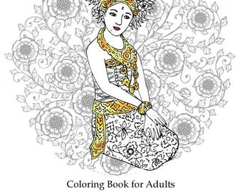 Bali Coloring Book For Adult