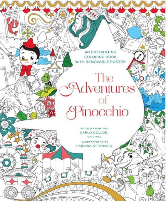 Le Avventure Di Pinocchio Libro Da Colorare Etsy