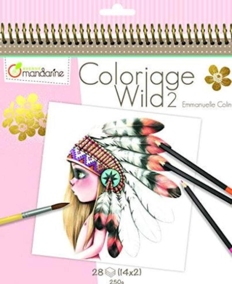 Coloriage Magique Happy New Year.Coloriage Wild 2 By Emmanuelle Colin Etsy