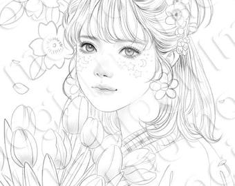 Digital : Tulip girl by M.O.M.O.G.I.R.L