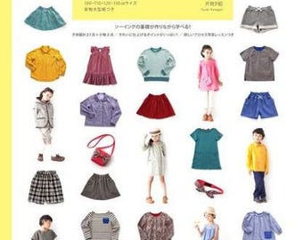 Pattern label children's clothing sawing LESSON BOOK - Japanese kids pattern book