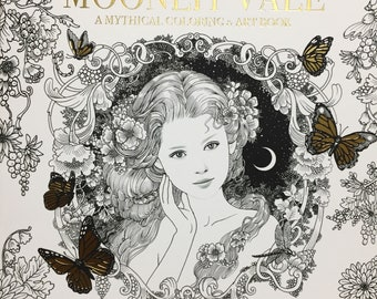 New book : The Moonlit vale a mythical coloring & art book by annistegg gerard