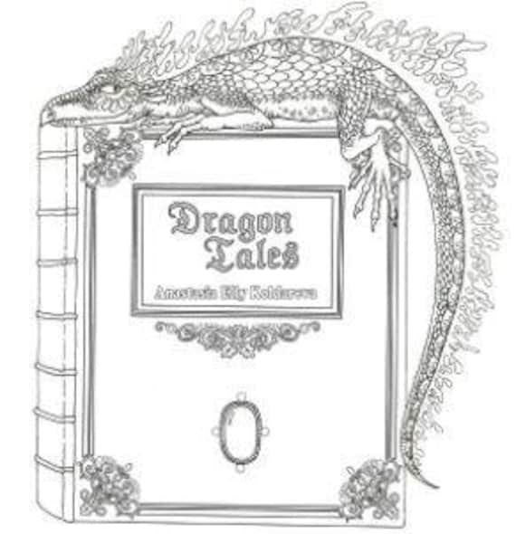 DragonTales By Anastasia Elly Russian Coloring Book