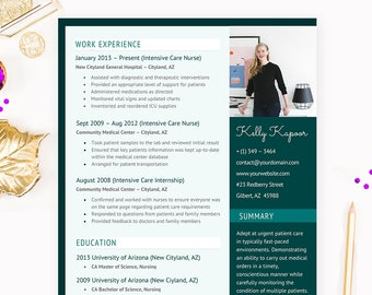 Nurse Resume Cover Letter References CV Microsoft Word Template Package
