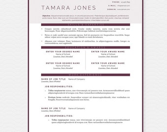 Sunrise Resume Cover Letter References Template Package Etsy
