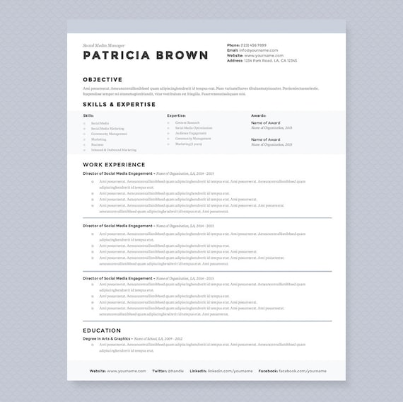 Clean Resume & Cover Letter Template - Clean Template Package - Resume  Design, Cover Letter Design - Instant Download