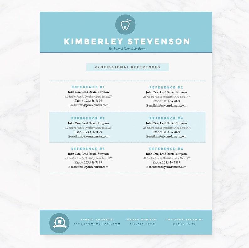 Blue Dental Assistant Resume Cover Letter References