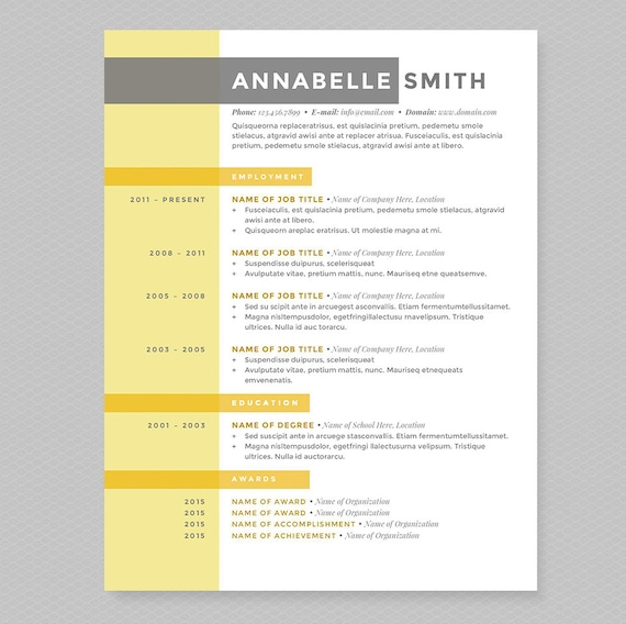 Criss Cross Resume & Cover Letter Template - Clean Template Package -  Resume Design, Cover Letter Design - Instant Download