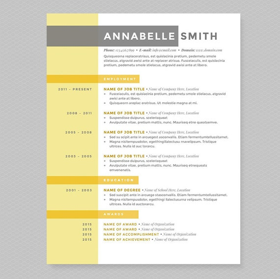 Criss Cross Resume & Cover Letter Template Clean Template | Etsy