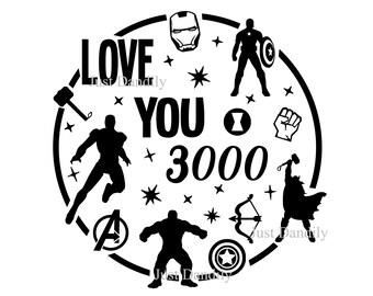I Love You 3000 Svg Etsy