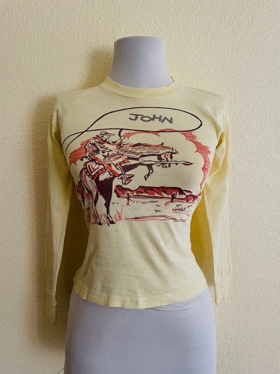 Amazing 1950s cowboy western t-shirt!