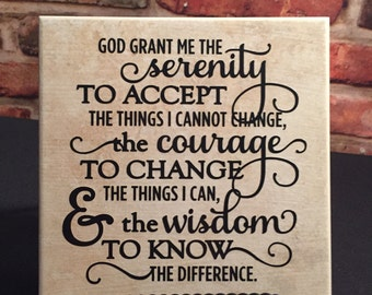 Ceramic tile with stand.  Serenity prayer.