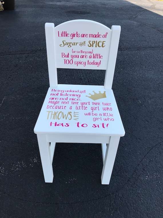 Time Out Chair Girls Time Out Kids Time Out Chair Time Out Etsy