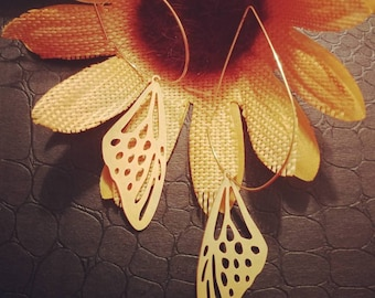 Make A Statement With These Bold, Brass, Beautiful Butterfly Wing Earrings