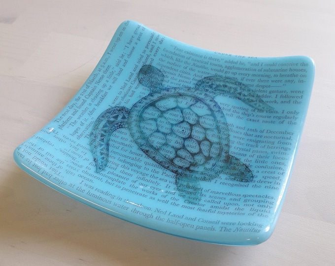 20000 Leagues Under The Sea fused glass trinket dish