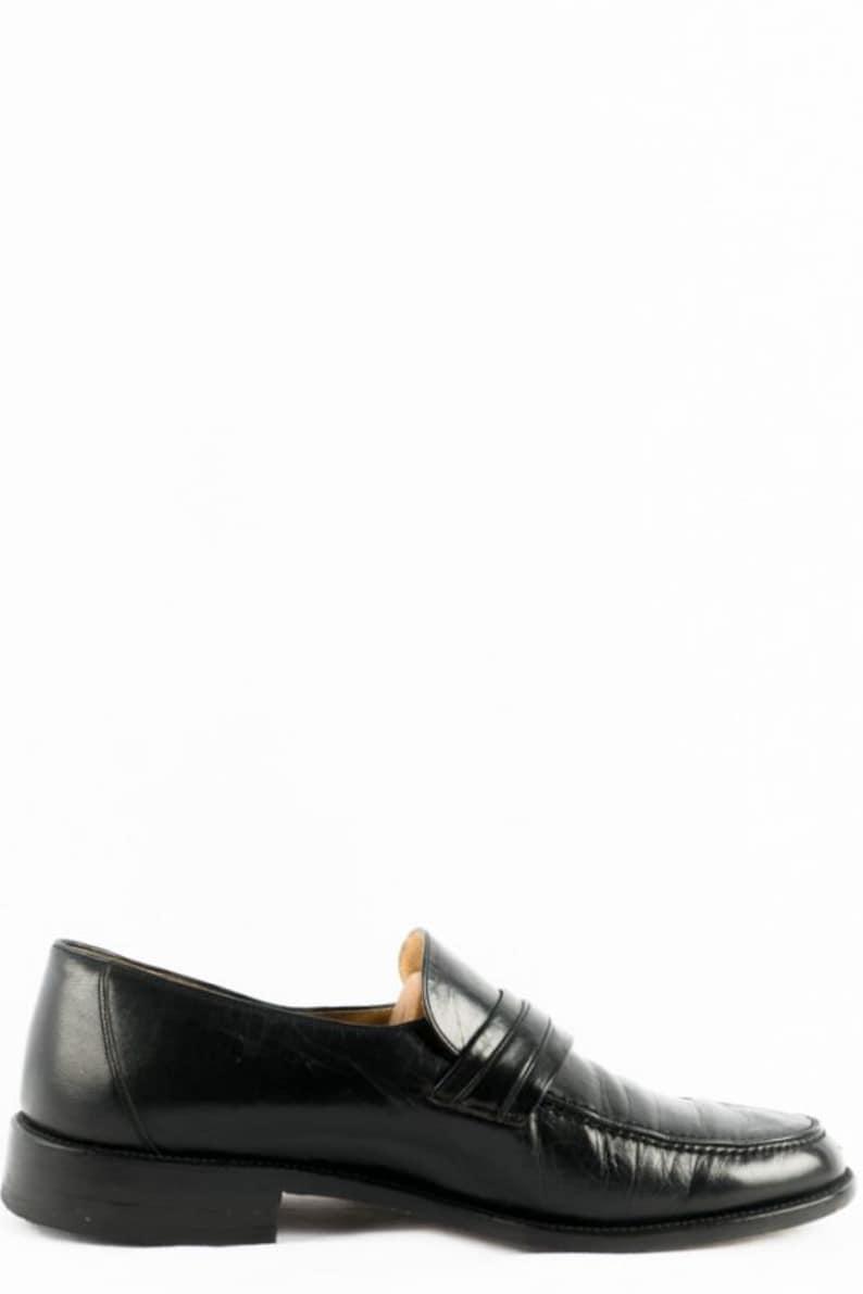 Vintage Shoes 41.5 Leather Lace-up Shoes Bohemian Black