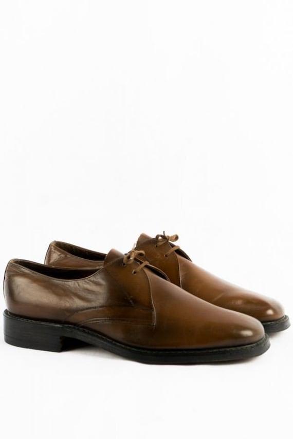 50's Vintage Shoes -42- Deadstock Leather Brown Fr