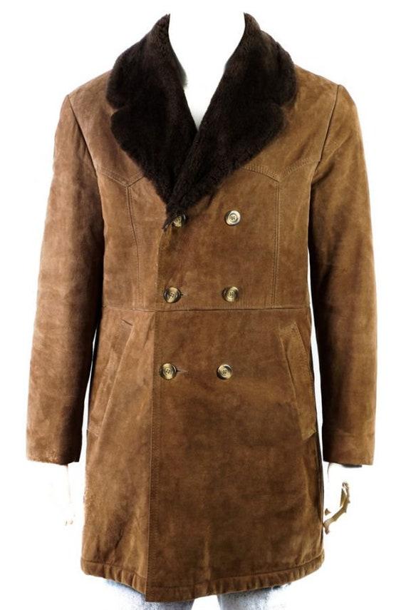 Vintage Coat -M- Lambskin Winter Coat Teddy Collar