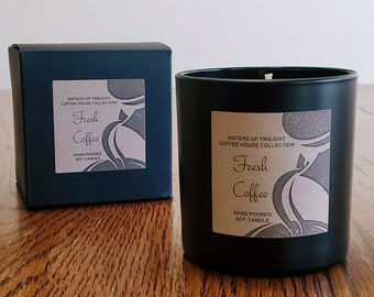 Fresh Coffee  Scented Soy Candle | Coffee Candle | Coffee Gifts – by Sisters Of Twilight