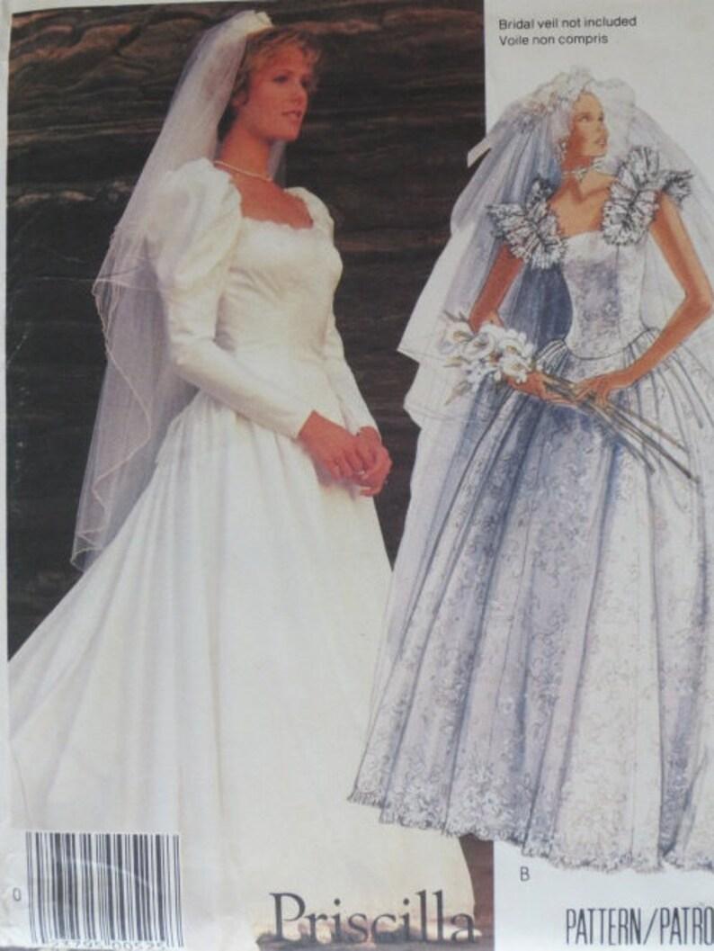 Mccalls Wedding Dress Pattern By Priscilla Size 6 8 10 Etsy