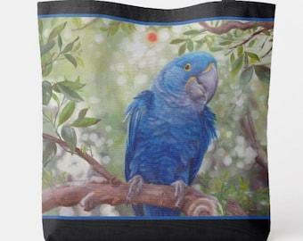Snowbirds Quaker and Ringneck reusable tote bag featuring original artwork