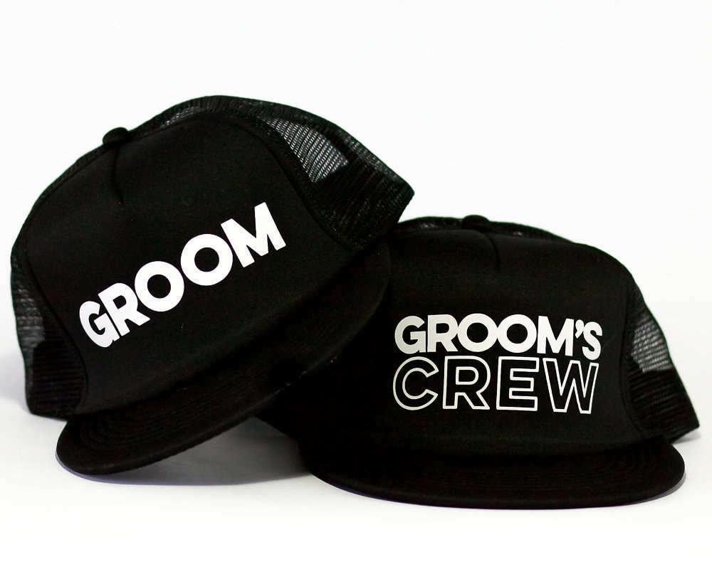 Groom Trucker Hat   Grooms Crew Trucker Hats  5f2e08373699