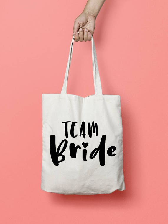 Team Bride Tote Bag Bridesmaid Tote Bag Bachelorette Party   Etsy 993d96b40e