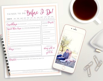 PRINTABLE Wedding Planning Notepad   Bride to Be Wedding Planner   Wedding To Do List   Wedding Organizer   Instant Download