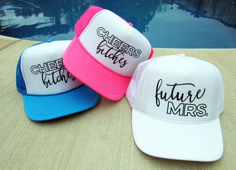 READY TO SHIP Neon Bachelorette Trucker Hats  Bachelorette image 0