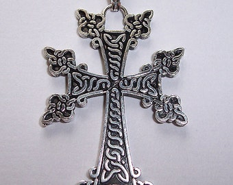 Armenian Oxidized Sterling Silver .925 Cross Pendant