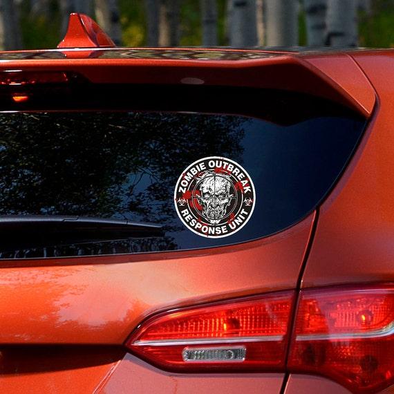 ZOMBIE OUTBREAK RESPONSE TEAM BIOHAZARD SYMBOL VINYL DECAL CAR WINDOW STICKER