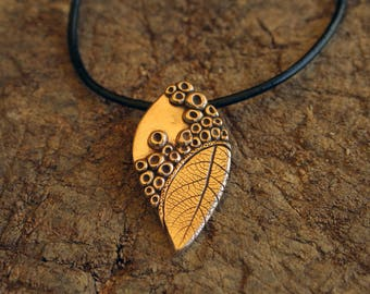 "Necklace ""nature"" - golden bronze"