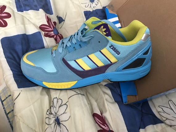 4deae23744eb ... italy adidas zx 8000 us 95 yellow purple torsion vintage new etsy bd5e3  5d4f2